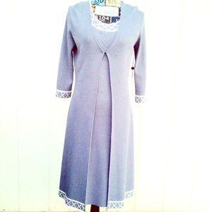 NWT Max Studio Beaded Dress & Cardigan Set Size S